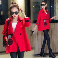 bamboo batting - 2016 vogue Hitz women s cape coat Korean wild loose sleeve shirt Spring and Autumn jacket sport pink harajuku jacket