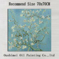 almond landscape painting - Top Skills Artist Handmade High Quality Vincent Van Gogh Almond Blossom Oil Painting For Wall Decoration Almond Blossom Painting
