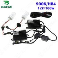 achat en gros de hb4 caché kit phare-12V / 100W Xenon Phare lumière 9006 / HB4 Conversion HID xénon HID Kit de voiture avec ballast AC pour véhicule Phare KF-K2002-9006