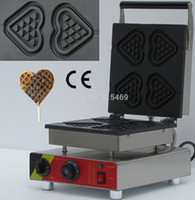 bakers chocolate - v v Electric Commercial Chocolate Heart Waffle Stick Maker Iron Machine Baker