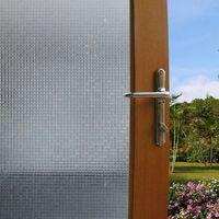 bathroom doors design - 3D three dimensional refractive glass film window stickers static free plastic sliding door window glass transparent paper new