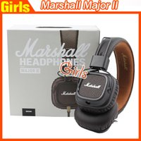 Cheap Marshall Major II Headset With Mic Deep Bass DJ Hi-Fi Headphones HiFi Earphones Professional DJ Monitor Headphones