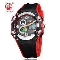al por mayor reloj de lujo ohsen-OHSEN Relogios Masculinos venta al por mayor relojes de marca de lujo de los hombres Fecha de exhibición digital de alarma cronómetro 2016 Nueva Impermeable Deportes Relojes Hombres