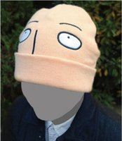 anima costume - Funny Cosplay Hat Japanese Anima Animation ONE PUNCH MAN Cosplay Wool cap Saitama Yellow Costume Accessory Unisex AN493