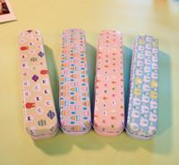 Wholesale 4pcs super cute Korean metal pencil case roll pencil box Bandage material estuches tinplate cases for pencil school Kit