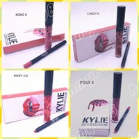 Wholesale New Makeup Lips Kylie Lip Kit Matte Liquid Lipstick Lip Liner Set Different Colors