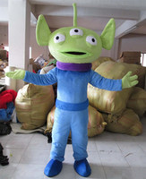 alien costume women - hot new green Extraterrestrial Alien mascot costume halloween costumes for women and man halloween costume party minion costume dinosaurs