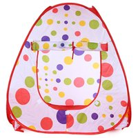Cheap New Lovely Polka dots Children Folding Tent Portable Toy House and Outdoor Camp Game for Kids Parents Hide and Seek
