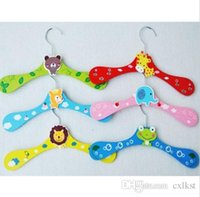 baby wardrobe closet - Cartoon Assorted Animal Baby Kids Clothes Wardrobe Coat Wood Hangers Brand New Good Quality