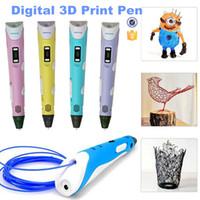 art display screen - upgrade D Print Pen Art Drawing Pen For Kid Free ABS Filament DIY D Printing Pen with LCD Display Screen DHL Free