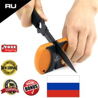 Wholesale T1301TC EDC YOYAL Outdoor Knife Sharpener Two Stages Carbide Ceramic Sharpening Tool Sharpening Stone Kitchen Tools lt no tracking