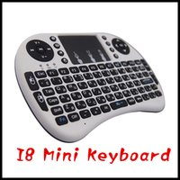 Wholesale 2016 MEMOBOX RII I8 Mini Keyboard Russian English Air Mouse MultiMedia Remote Control Touchpad Handheld for Android TV BOX Notebook Mini PC
