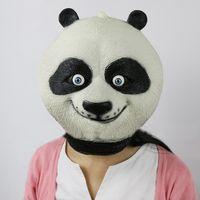 Wholesale Latex Cartoon Movies - Wholesale-Cartoon Movie Kung Fu Panda Latex Unisex Full Head Panda Po Cosplay Animal Mask for Party Halloween