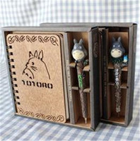 accounting sales - Hot Sale Mushine Cute Totoro Notebook with free Ball Pen Creative Totoro Wooden Diary and Gift with Package