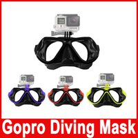 Wholesale Go Pro Diving Mask Sports Swimming Dive Scuba Glasses with adapter for GoPro Hero Session SJCAM SJ4000 SJ7000 XiaoMi