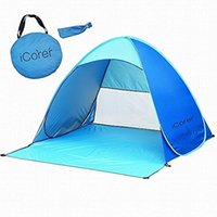Wholesale iCorer Automatic Pop Up Instant Portable Outdoors Quick Cabana Beach Tent Sun Shelter Blue