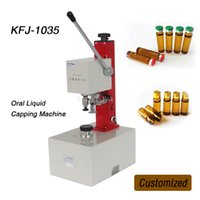 Wholesale KFJ Oral Liquid bottle capping machine perfume Liquid aluminum cap sealer spray head locking machine V custonized size