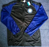 Wholesale Benwon Milan long sleeve soccer jackets adult s outdoor football coat thai quality men s outdoor football hoodies adult sports coats