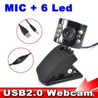 Wholesale 2015 USB Led Ligthing Dimmer HD Mega Pixel Camera Webcam web cam with Mic Microphone for PC Laptop Desktop Notebook