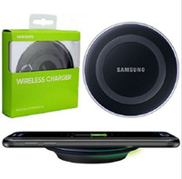 Wholesale 2016 Universal Qi Wireless Charger fast Charging For Samsung Note Galaxy S6 S7 Edge mobile pad with retail package with usb cable