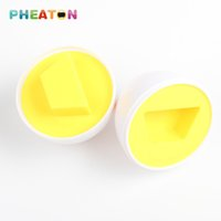 Wholesale Smart Eggs Learning Education Children Toys Mixed Shape Wise Pretend Puzzle Baby Learning Kitchen Tools Boy Girl Gifts