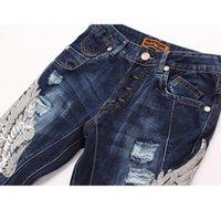 acid wash clothing - High quality fashion hip hop clothing men rockstar designer brand slp acid wash moto distressed ripped skinny denim biker jeans slim pants