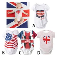 Unisex baby onesie pattern - 2016 new summer baby boy girl body suits th of july onesie stripes Love stars pattern rompers style choose free ship