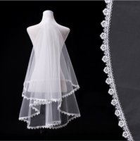 beautiful borders - White Tulle Weddings Veils Meters Long With Flowers At Border Wedding Vailes Ivory Veil Wedding Beautiful Bridal Veil Cheap