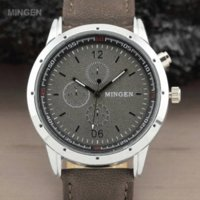 aviator watch bands - MINGEN Fashion Outdoor Sport Military Pilot Aviator Army Style Dial Scrub Leather Band Casual Analog Quartz Men watch