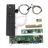 Wholesale T VST59 LCD LED Controller Driver Board TV HDMI VGA CVBS USB For LP133WX3 TLA5 N133IGE LVDS Reuse Laptop x800