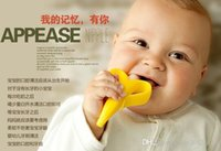 best baby toothbrush - hot selling Baby Teethers Baby Teething Rings Bite Silicone Banana Toothbrush Without BPA best seller a