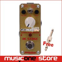 acoustic guitar simulator - New AROMA AAS AC STAGE Acoustic Guitar Simulator Mini Analogue Effect True Bypass Free Connector