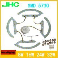 Wholesale LED double color lamp SMD5730 W W W K K K ceiling light panel lamp AC85 V magnetic