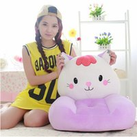 big red farm - 2016 plush cat children s sofa toy big face animal cat green pink red soft chair cushion for child