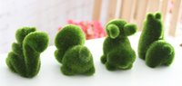 artificial rabbit - Rabbit and Dog Green Plant Office Furnishing Articles Plants Creative Office Plants Decorations
