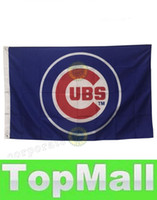 Wholesale LAI Chicago Cubs House flags All Tems Baseball Flags Mix order Baseball Flag