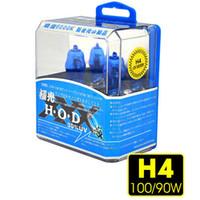 Wholesale H4 HEADLIGHT GLOBES CAR LIGHT BULBS W K V XENON SUPER WHITE Pair HID Halogen Auto Car Head Light Bulbs Lamp