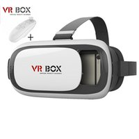 Wholesale 2016 New VR Box Upgrated Version VR Virtual Reality Glasses VR Glasses Rift Google Cardboard D Movie for quot quot Phone Bluetooth Remote