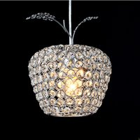Wholesale Lustres Pendentes Led - 1pcs a lot modern crystal pendant light lustres e pendentes home decor fixture lighting Dia15cm 25cm crystal lamp