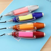 Wholesale in Multi functional Halter Ball Point Pen Note Paper Flashlight Stationery with String Color Assorted