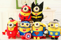 Wholesale NEW Minions Super Hero Plush Toy Doll quot cm Despicable ME Movie Plush Toy
