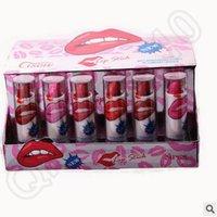 big lips tube - 7200pcs LJJC3765 Colors box Cisow Lipstick Plastic Tube Women Sexy Lip Stick Big Mouth Lip Gloss Lady Vogue Long Lasting Lipsticks