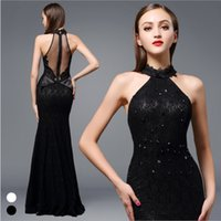 Wholesale 2016 Brand New Women Long Evening Gowns Sexy Lace Slim Backless Luxury Women Evening Dresses Wedding Bridesmaid Dress Summer Girls Events