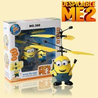 Wholesale Children s Toys Despicable Me Minions Remote Control Light Sensing Aircraft KE0009