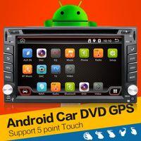 Wholesale 2DIN Android4 Car Stereo Audio Wifi GPS Navigation Road FM Radio Bluetooth USB SD auto universal Player Car styling headuni