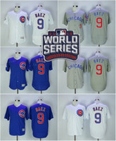 baby patch - Flexbase World Series Patch Javier Baez elite Jersey Chicago Cubs Baseball Jerseys Pinstripe White Baby Blue Grey Beige size