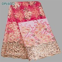 Wholesale Newest beartiful colorful embroidery chemical voile African lace fabric cheap price french net lace fabric for wedding DPL60