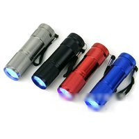 Wholesale Mini Aluminum Portable UV Flashlight Violet Light LED UV Torch Light Lamp Flashlight