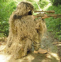 Wholesale Tactical Camouflage Suit Dsert Bionic Ghillie Suits camouflage grass hunting Recon yowie Paintball Military clothing