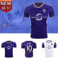 adult soccer uniforms - 2016 MLS Orlando City Adults Soccer Jersey KAKA Top Quality Home Purple Away White Soccer Jerseys SHEA Football Uniforms Shirts